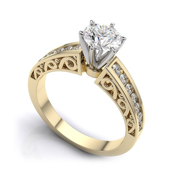 Solitário de Noivado com Diamantes