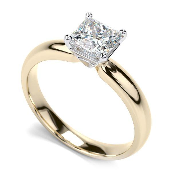 Solitário com Diamantes Princess