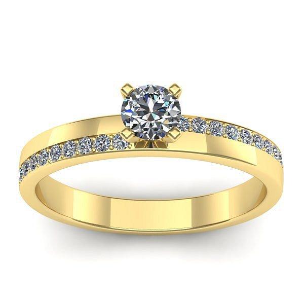 Anel Solitário de Diamantes SP