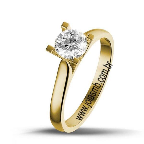 Anel Solitário de Diamante Goiânia