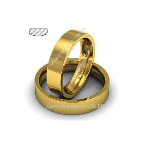 Alianças de Ouro Anatômica Rio Verde 5mm