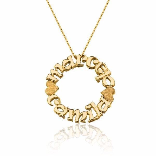 Mandala Com Dois Nomes Em Ouro