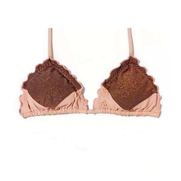 Recortes Nude Rosé e Lurex Cobre - Top Ripple