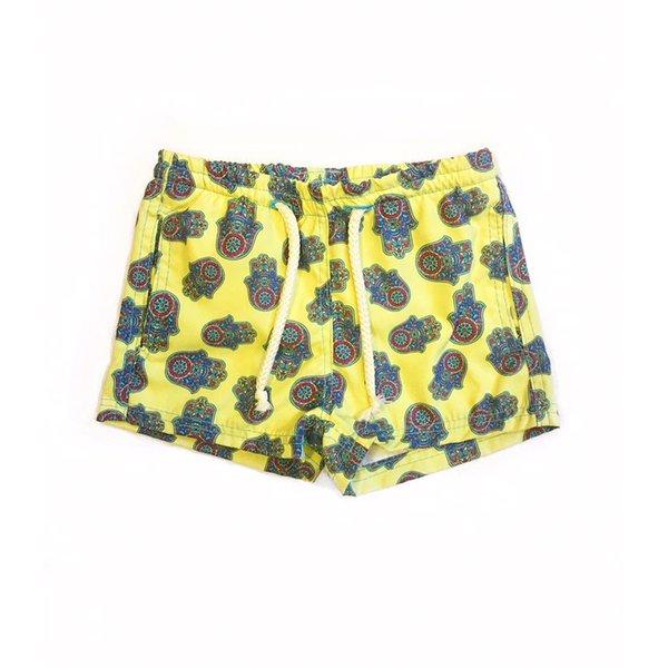 Mão de Fátima Amarela - Shorts Infantil