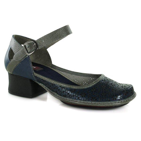 Sapato Em Couro New kelly Azurita J.Gean
