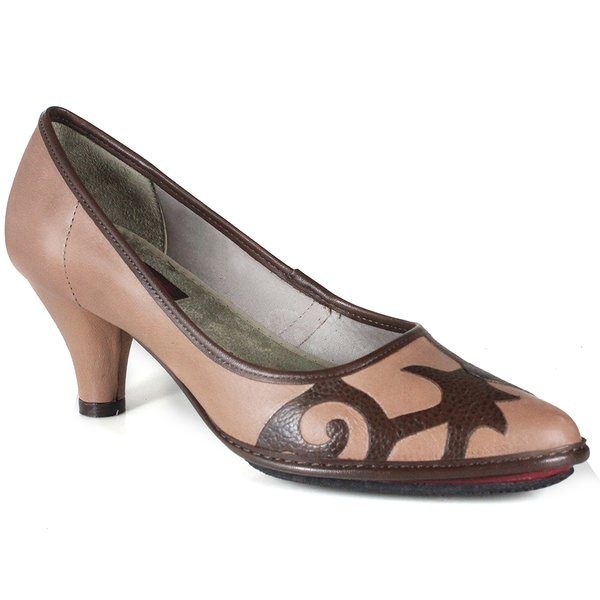 SCARPIN EM COURO TAUPE J.GEAN AMOSTRA ST0001-08