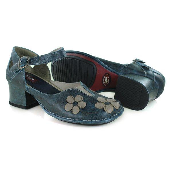 597087efb Sapato New Kelly Denin Em Couro J.Gean | J.Gean