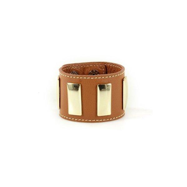 Bracelete Em Couro Mel J.Gean