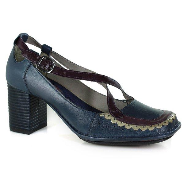 Sapato Em Couro Galeany Alto Navy J.Gean