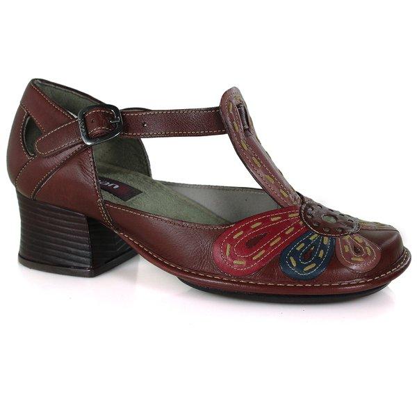 Sapato New Kelly em couro Vermelho J.Gean