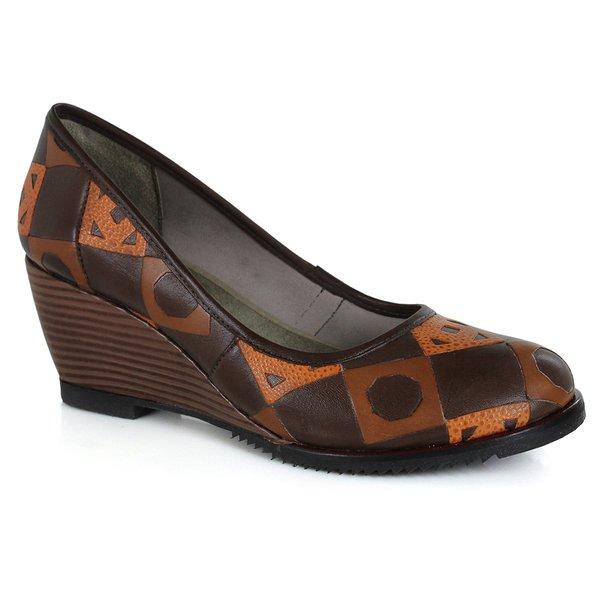 Sapato em Couro Susan Alto Coffee J.Gean CZ0012-03