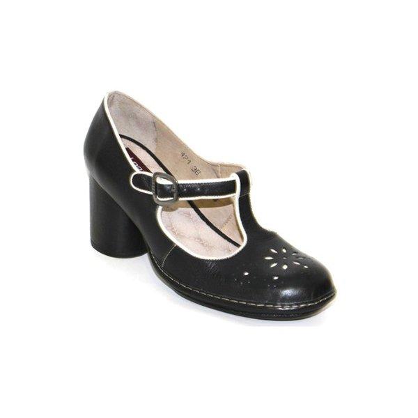 Sapato Em Couro Lolla Preto J.Gean