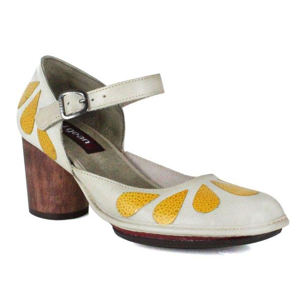 Sapato Em Couro Lolla Alto Lino j.Gean