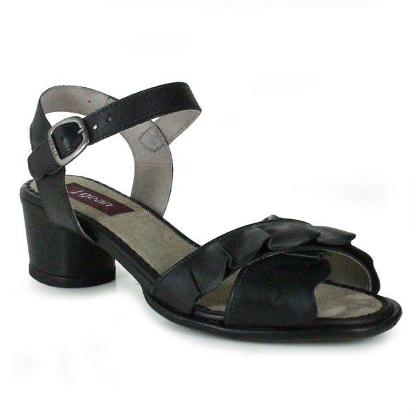 Sandália em Couro Lolla Baixa Preta J.Gean BG0028-01