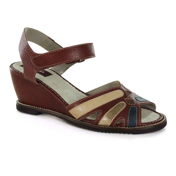 Sandália Em Couro Susan Anabela Vermelho J.Gean