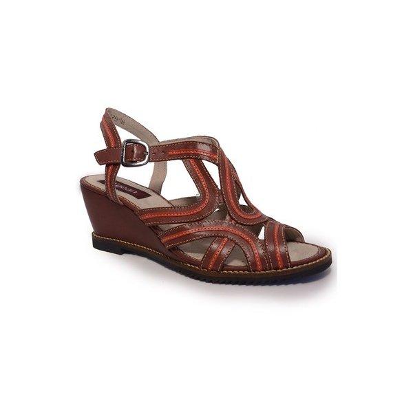 Sandália Em Couro Susan Anabela Vermelha J.Gean