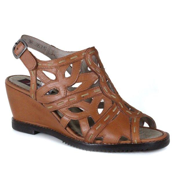 Sandália Em Couro Susan Anabela Alta Tamara J.Gean