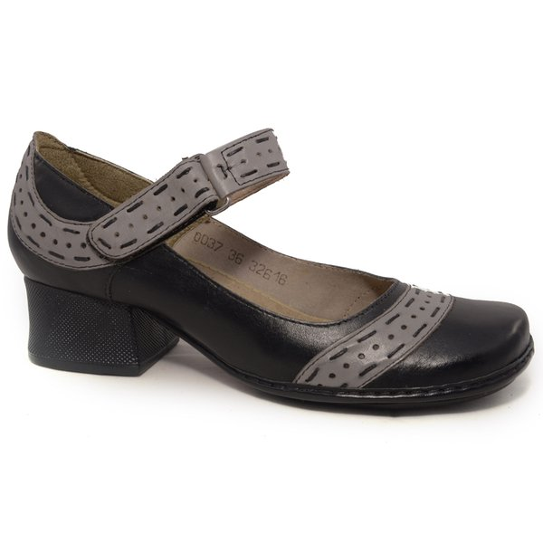 290d3dc6c Sapato Em Couro New Kelly Preto J.Gean | J.Gean