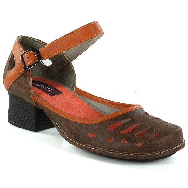 88533e291 Sapato Em Couro New Kelly Laranja J.Gean | J.Gean