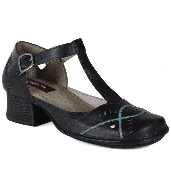 0b5190069 Sapato Em Couro New Kelly Preto J.Gean | J.Gean