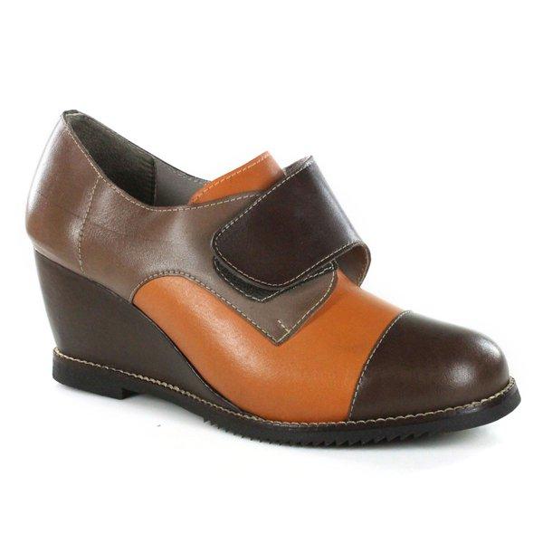 Sapato em Couro Susan Anabela Alto Coffe J.Gean CZ0005-04