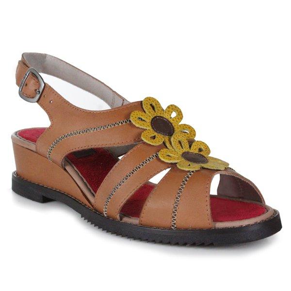 Sandália Em Couro Susan Anabela Médio Tamara J.Gean