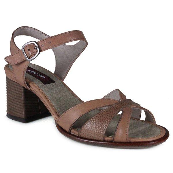 Sandália Em Couro Lolly Taupe J.Gean