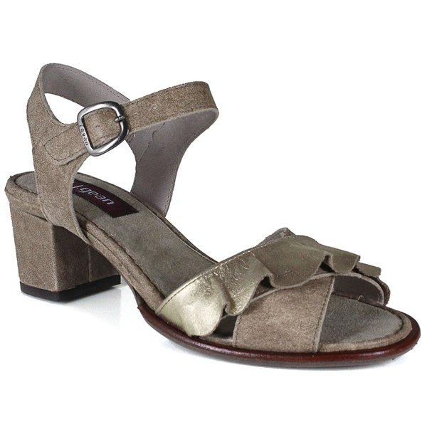 Sandália em Couro Ferrany Avelã J.Gean DI0001-02