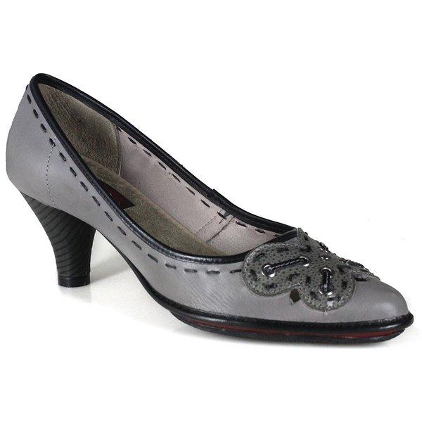 Sapato Scarpin Em Couro Loren Aço J.Gean DJ0003-01