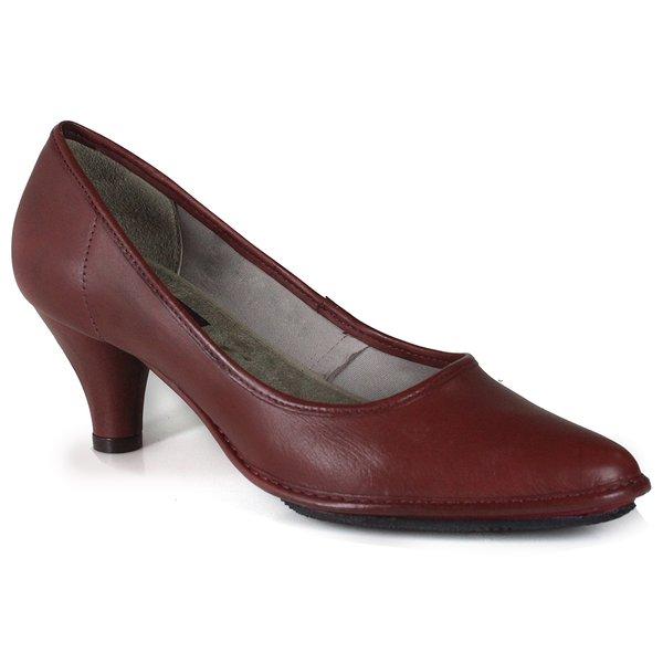 Sapato Scarpin em Couro Loren Vermelho J.Gean DJ0004-01