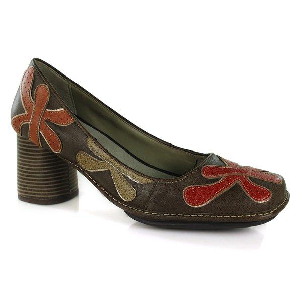 Sapato em Couro Galeany Alto Chocolate J.Gean AR0110-02
