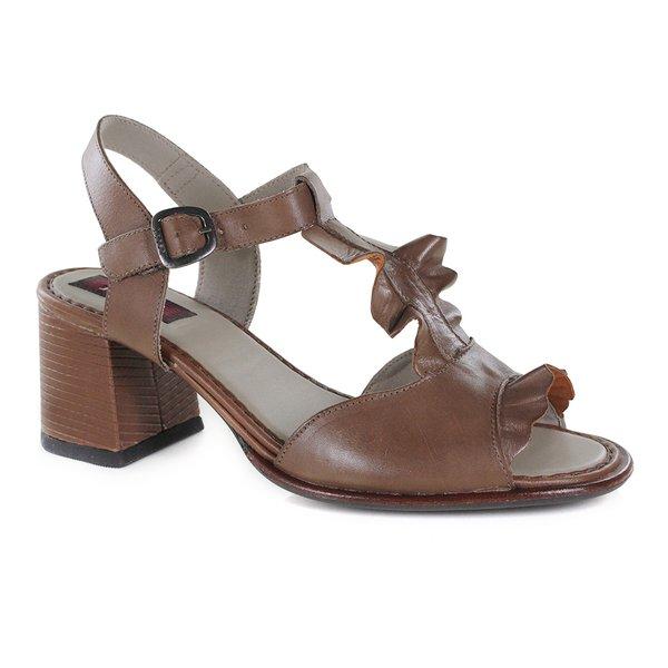 Sandália Em Couro Lolly Amêndoa J.Gean