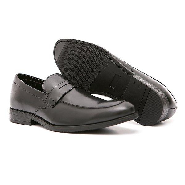 Sapato Casual Quebec Preto em Couro Legítimo - 18502A37