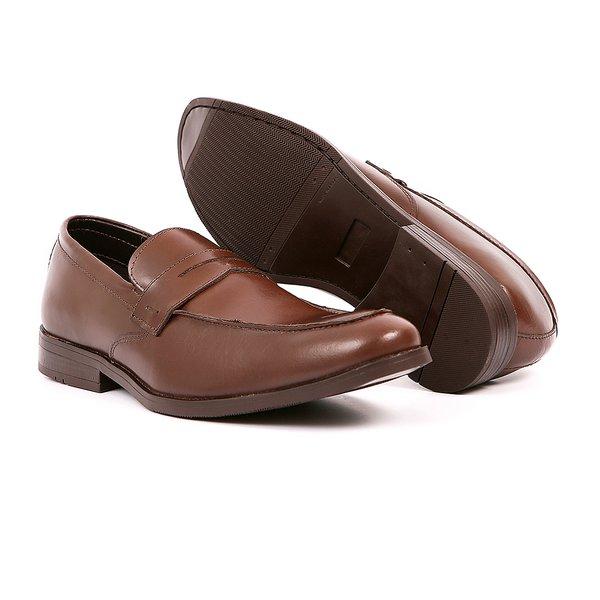 Sapato Casual Quebec Café em Couro Legítimo - 18502B37