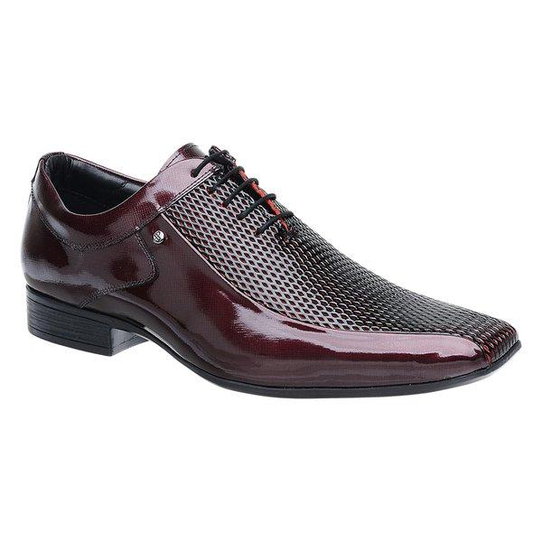Sapato Social Jota Pe Verniz Vinho Boss