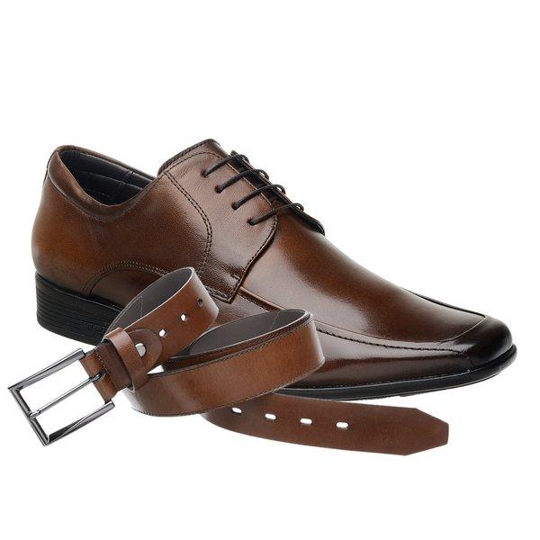 Sapato Jota Pe Marrom Air Regent + Cinto de Couro