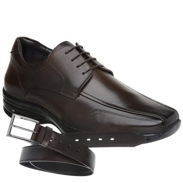 Sapato Jota Pe 3D Air Marrom + Cinto de Couro