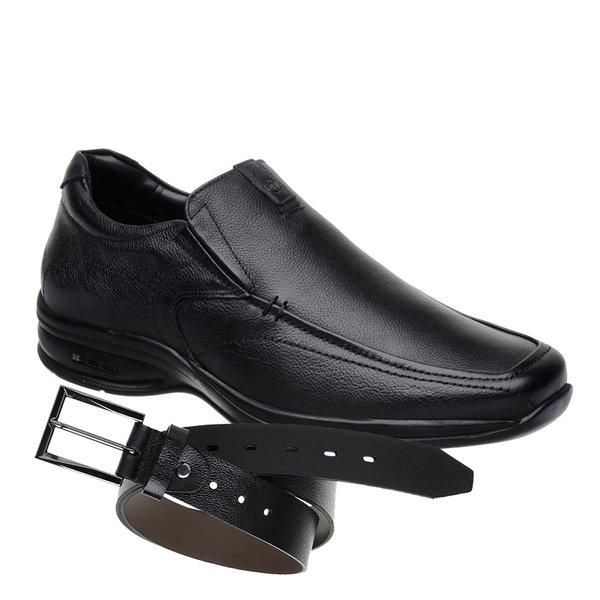 Sapato Jota Pe 3D Air Preto + Cinto de Couro Preto