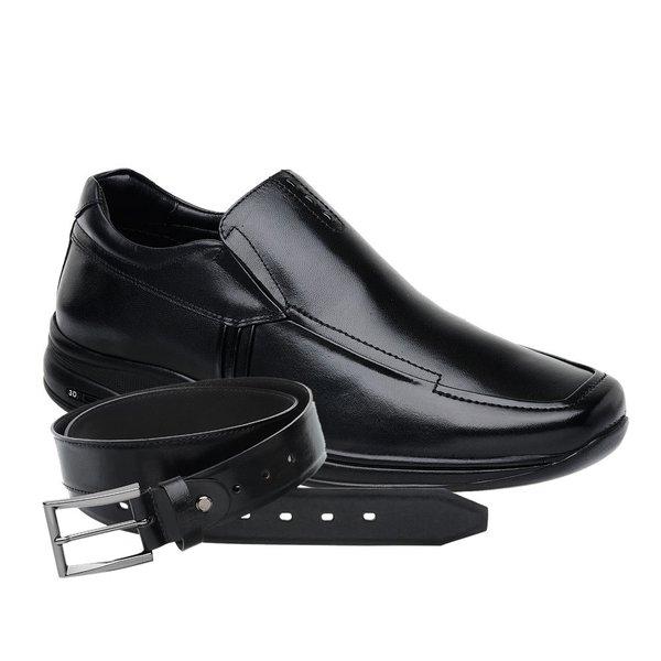 Sapato Jota Pe 3D Air Imax Preto + Cinto de Couro Preto