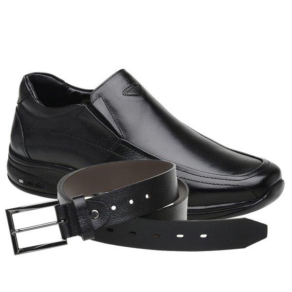 Sapato Jota Pe 3D Air Imax Preto + Cinto de Couro