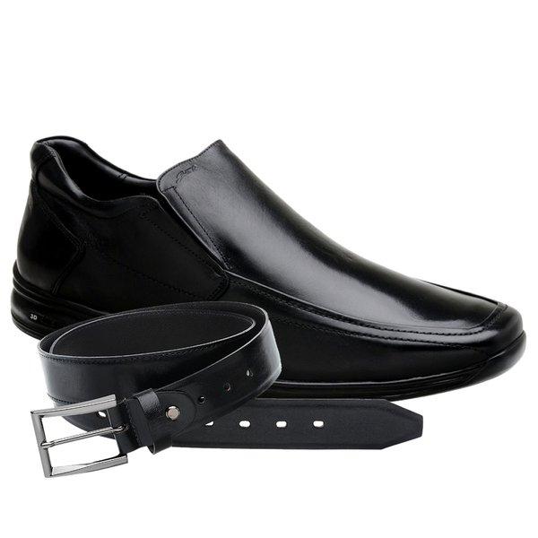 Sapato Jota Pe 3D Preto Air Discovery Tamanho Grande + Cinto de Couro