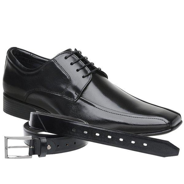 Sapato Jota Pe Preto Air Manhattan + Cinto de Couro