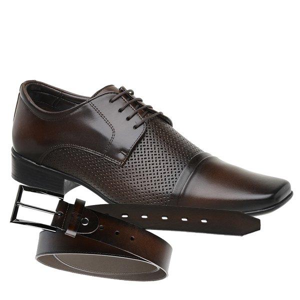 Sapato Jota Pe Marrom Air Prince + Cinto de Couro