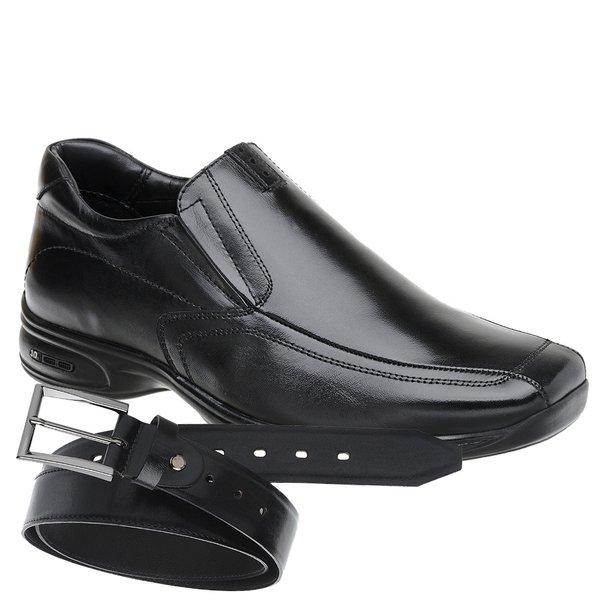 Sapato Jota Pe 3D Air Vision Preto + Cinto de Couro