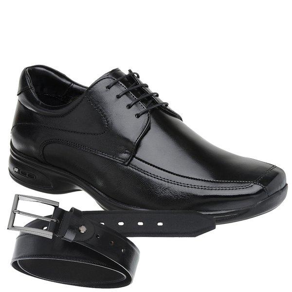 Sapato Jota Pe 3D Preto Air Vision + Cinto de Couro