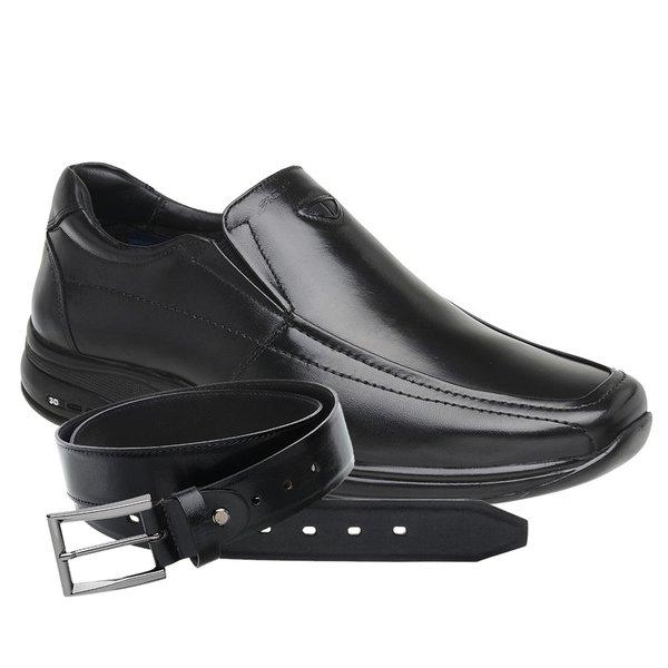 Sapato Jota Pe Preto 3D Air Imax Plus + Cinto de Couro