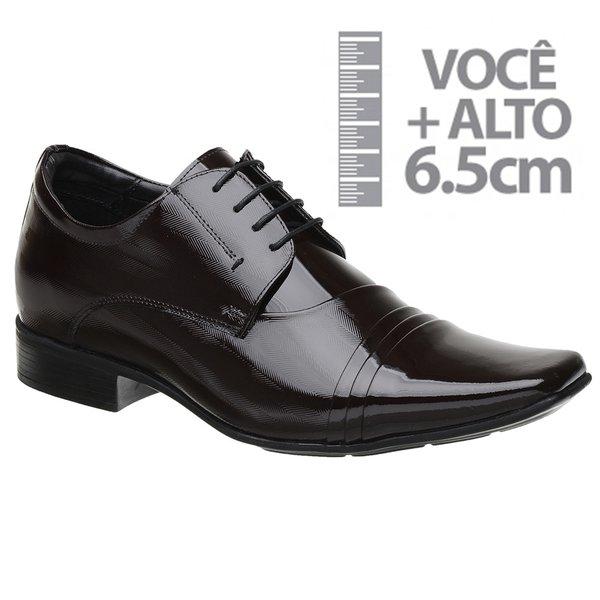 Sapato com Salto Interno Jota Pe Verniz Vinho Grow Air
