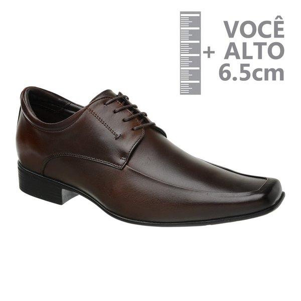 Sapato com Salto Interno Jota Pe Marrom Grow Air