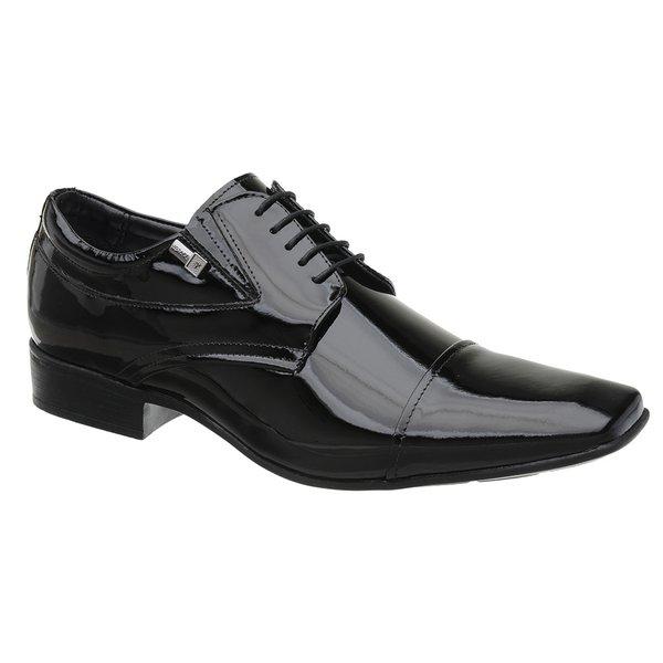 Sapato Jota Pe Verniz Preto Air Manhattan