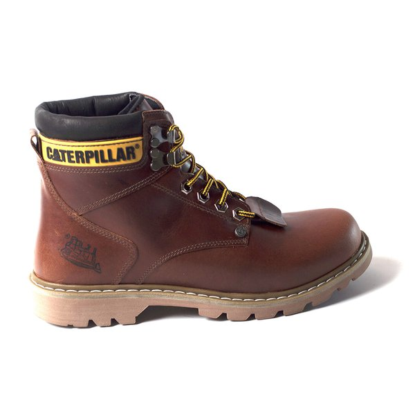 507371aae Bota Coturno Caterpillar Masculina Cat Men´s Couro Legítimo Brow ...